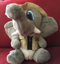 Six Flags Safari Elephant with hat and vest Plush Stuffed Animal Toy