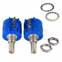 2pcs 3590S-2-103L 10K Ohm 10-Turn Rotary Wire Wound Precision Potentiometer Pot