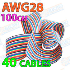 Cable plano AWG28 100cm 40 cables 28awg 40p Colour Flat Ribbon 10 colores metro