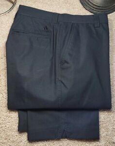 ADIDAS CLIMA.LITE-Black Stretch Poly, Mens Flt.Fnt, Casual Golf Pants-(36x32)