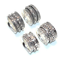 New !! 10 Pieces Precious Silver Plated Trendy Elegant Austrian 925 Ring Jewelry