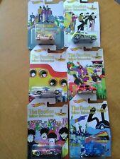 Beatles Hot Wheels Yellow Submarine (6) Cars - Unopened 2015