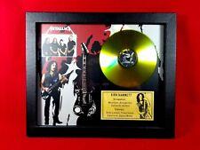 Kirk Hammett Metallica Guitar Tribute Shadow Box Displayed with Golden CD