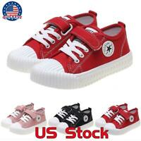 Kid Spring Autumn Shoes Canvas Casual Boy Girls Youth Classic Tennis Sneakers US