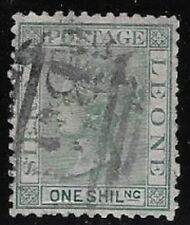 Sierre Leone 1872 Victoria, Wtmk 1 Sideways 1 Sh Yel Green, Scott #10 - dw898.48