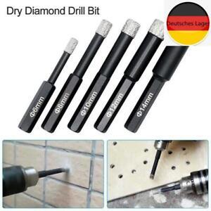Diamant Bohrer Fliesenbohrer 6-kant Granit Trockenbohrer Marmor Feinsteinzeug