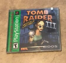 Playstation Tomb Raider 3 III Adventures of Lara Croft NEW factory sealed