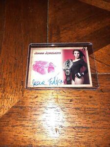 Joanna Jedrzejczyk Signed Kiss Print Card former UFC Champion Series A 1