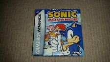 Sonic Advance Nintendo Gameboy Advance Game Boxed, Cleaned & Tested