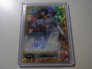 2017 17 Bowman Chrome Prospects GOLD Shimmer #BCP191 Dawel Lugo #16/50