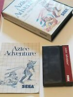 Aztec Adventure (Sega Master System SMS) Complete in Case CIB GOOD