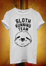 Sloth Running Team Hipster Novelty Men Women Unisex T Shirt Tank Top Vest 1125