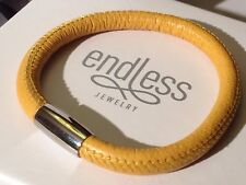 Endless Jewelry 18cm Yellow Bracelet Single Strand Silver Clasp rrp £40