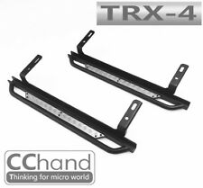 Steel Rock Slider with Silver Chequer Plate for TRX-4 D110 / Bronco