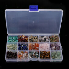 Lots Mixed Gemstone Chips Beads Jewellery Making Smooth Semi Precious Crafts