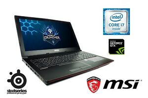Gaming Laptop MSI Intel i7 Quad 8GB RAM 1TB HDD 128GB SSD NVIDIA GTX 960M 2GB