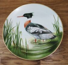 The 12 Waterbird Plates from Danbury Mint Red Breasted Merganser Porcelain Plate
