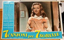 soggettone film 7 CANZONI PER 7 SORELLE Lorella De Luca Marino Girolami 1957