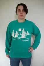 Vintage 80s Sparkle Glow UGLY Pennsylvania Cotton Poly Sweatshirt L USA Made
