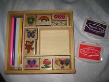 Melissa & Doug Friendship Rubber Stamp Set Box Lot parts accessories incomplete