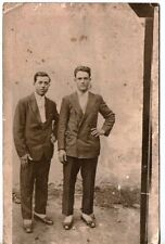 PHOTO ANTIQUE TINTYPE AFFECTIONATE MEN BUDDYS BOYS LOVE TINTED GAY