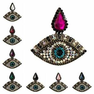 Evil Eyes Fashion Women Charm Statement Jewelry Crystal Rhinestone Stud Earrings