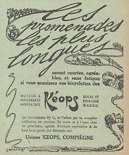 Z8510 Moyeux KEOPS - Pubblicità d'epoca - 1913 Old advertising