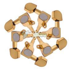Set of 6 Pcs Gold Acoustic Guitar Machine Heads Tuners 3L/3R