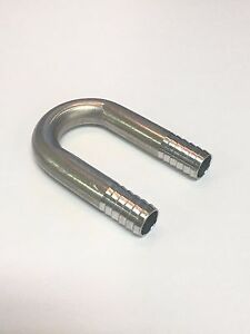 """Stainless Fitting 180 Degree U-BEND 3/8"""" Barb Small Radius, Stainless Steel Soda"""