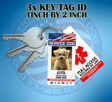 SERVICE DOG KEY CHAIN TAG / COLLAR TAG FOR SERVICE ANIMAL ID CARD