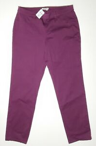 Orvis Women's All-Day Stretch Twill Ankle Pants Wine Berry 14