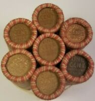 1909-1958 Wheat Penny Lincoln Cent Roll P-D-S 50 Coins