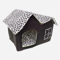 New Winner Pet Cat Dog House Kennel Sleeping Bed Super Soft British M Coffee