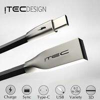 TYPE C 3.1 USB-C PREMIUM ITEC 3D ALLOY CABLE DATA SYNC CHARGER LEAD ADAPTER