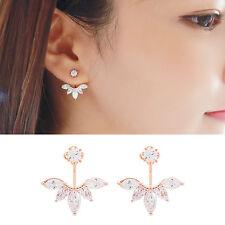 Women Fashion Jewelry Lady Elegant Crystal Rhinestone Ear Stud Earrings 1 Pair
