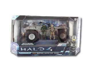 Halo 4 Series 1 UNSC Warthog Artic Edition Vehicle Master Chief & Marine Figures