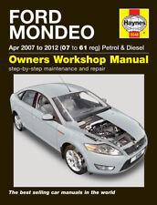 H5548 Ford Mondeo Petrol & Diesel (Apr 2007 to 2012) Haynes Repair Manual