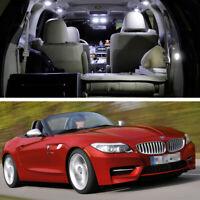 4x LED SMD White Light Interior Bulbs Kit for 2011-2014 12 13 BMW Z4 Error Free