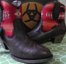 ARIAT MEADOW Red Pendelton Wool & Leather Ankle Boot Size 8 M