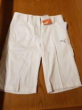 Puma Ladies white shorts size S knee length