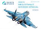 Quinta QD48172 1/48 Su-33 3D-Printed  coloured interior for Kinetic kit