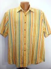 Mens Peterborogh Row Button Front SS Striped Shirt  Bloomingdales Tag L