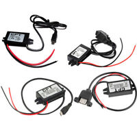 DC-DC 12V to 5V Mini/Micro/A type USB Dual Converter Step Down Power Module Tool