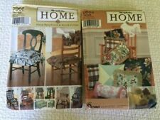 Lot of 2 Simplicity Home Sewing Patterns Chair Pads, Glider Covers,& Pillows NEW