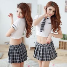 Sexy Lingerie Student Cosplay School Girl Uniform Costume Outfit Seductive US