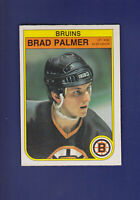 Brad Palmer RC 1982-83 O-PEE-CHEE OPC Hockey #21 (NM) Boston Bruins