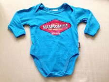 ♥ Baby Mambo 'Mambomite' Blue One Piece Long Sleeves Bodysuit (Newborn) ♥