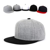 XL~2XL XXL 60~63Cm Unisex Mens Solid Color Plain Baseball Cap Snapback Hats