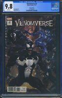 Venomverse 3 (Marvel) CGC 9.8 White Pages Clayton Crain Variant Cover