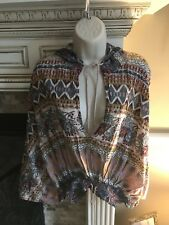 Free People Drawstring Waist Hoodie. Indian Cotton. Nwot. M/L